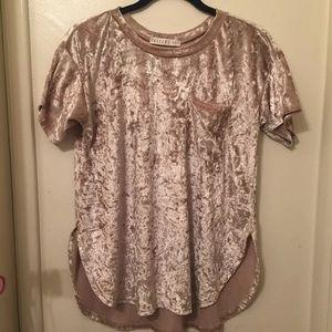 Velvet beige shirt